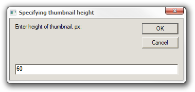 Specifying thumbnail height