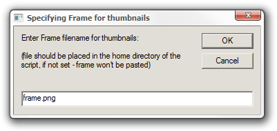 Specifying Frame for thumbnails